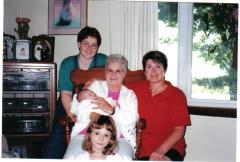gma, claire, mom, paige and choe, 2000