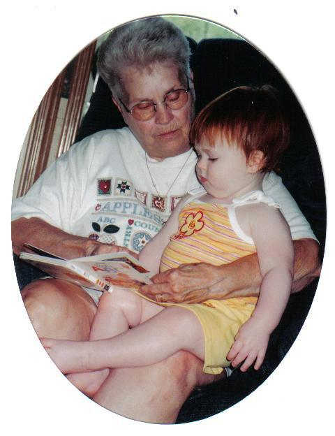 Grandma Ruthie with my daughter Claire, 2001.