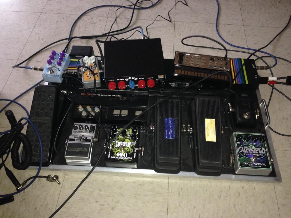 Brad's pedal rig.